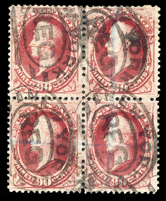 Price of US Stamps Scott Catalogue #191: 90c 1879 Perry. Cherrystone Auctions, May 2015, Sale 201505, Lot 27