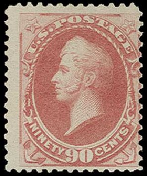 Costs of US Stamps Scott Cat. 191: 90c 1879 Perry. H.R. Harmer, Jun 2015, Sale 3007, Lot 3228
