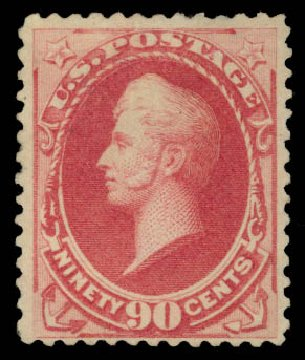 Price of US Stamp Scott Catalogue #191 - 1879 90c Perry. Daniel Kelleher Auctions, May 2015, Sale 669, Lot 2674