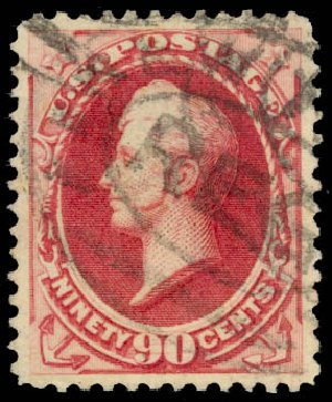 US Stamp Value Scott Catalog #191: 90c 1879 Perry. Daniel Kelleher Auctions, Aug 2015, Sale 672, Lot 2445