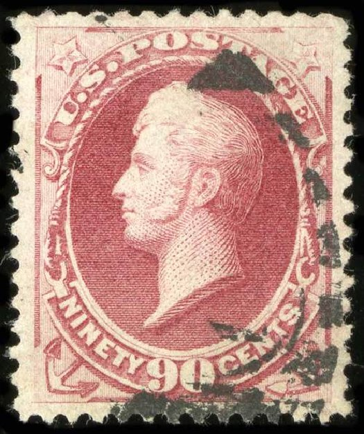 US Stamps Value Scott Cat. 191: 1879 90c Perry. Spink Shreves Galleries, Jul 2015, Sale 151, Lot 165