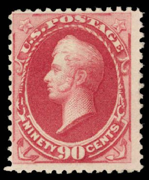 Values of US Stamps Scott Cat. # 191: 90c 1879 Perry. Daniel Kelleher Auctions, Aug 2015, Sale 672, Lot 2443