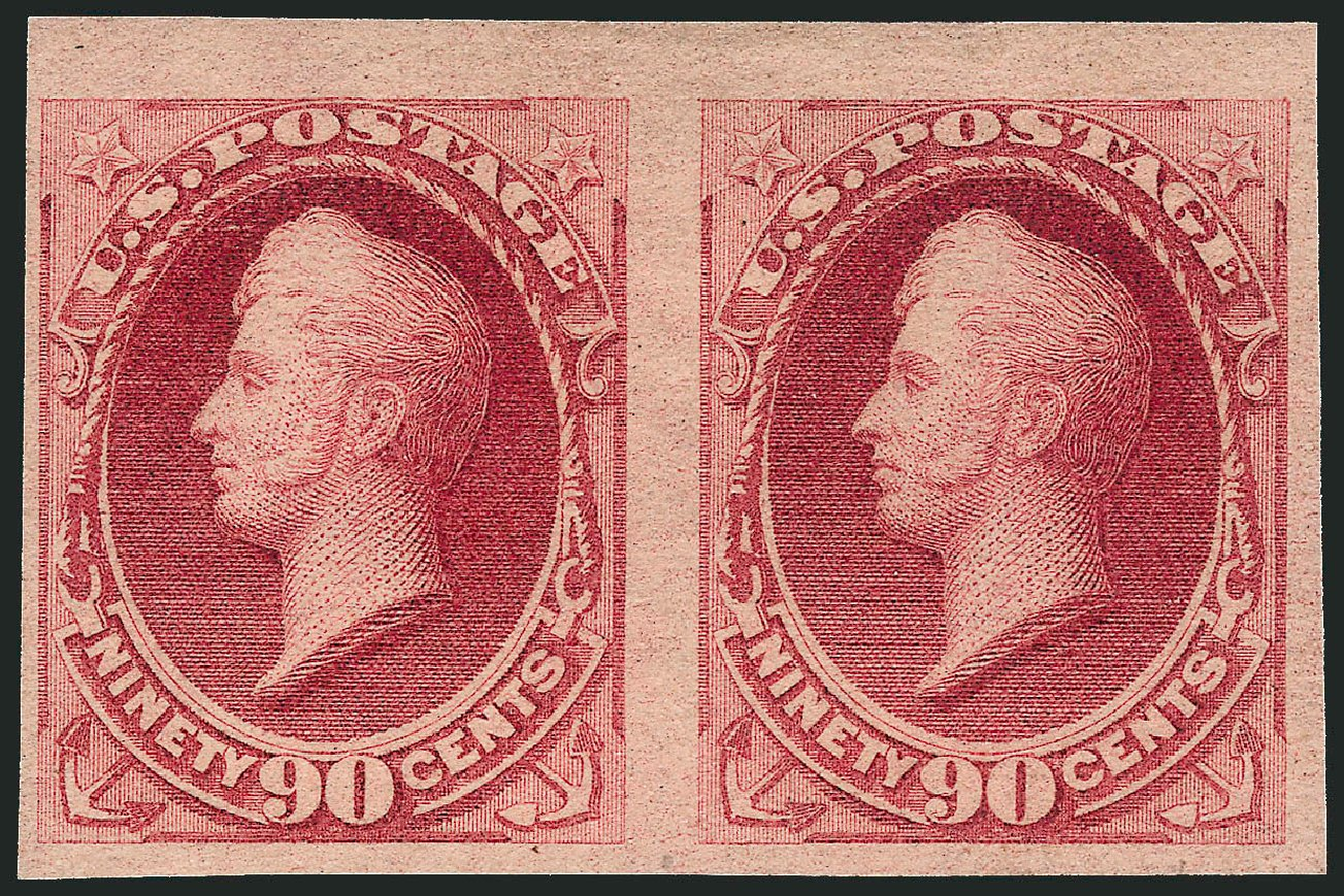 Prices of US Stamps Scott Cat. 191 - 90c 1879 Perry. Robert Siegel Auction Galleries, Apr 2015, Sale 1096, Lot 343