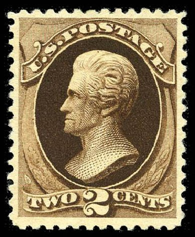 Values of US Stamp Scott Catalog # 193: 2c 1880 Jackson Special Printing. Matthew Bennett International, Feb 2012, Sale 340, Lot 288