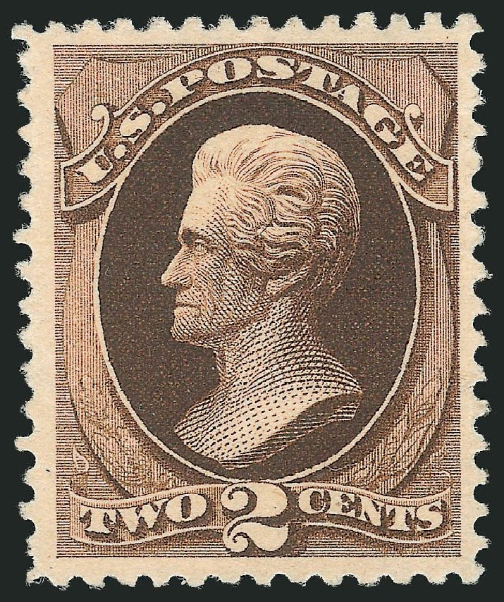 US Stamps Values Scott Catalogue #193 - 1880 2c Jackson Special Printing. Robert Siegel Auction Galleries, Nov 2013, Sale 1057, Lot 778