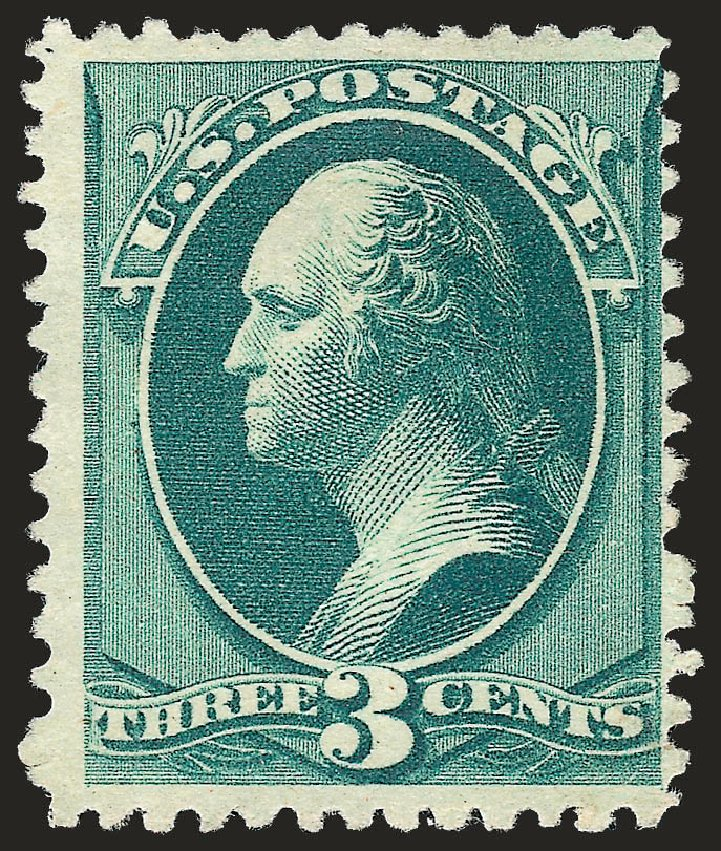 US Stamp Values Scott #194: 3c 1880 Washington Special Printing. Robert Siegel Auction Galleries, Oct 2008, Sale 963, Lot 818