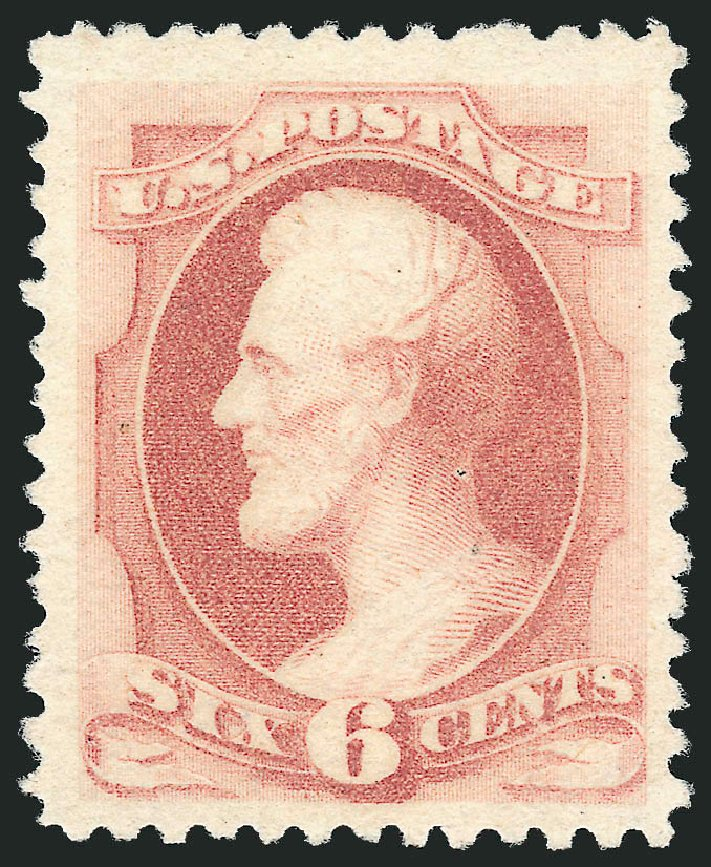 US Stamp Value Scott Cat. #195 - 1880 6c Lincoln Special Printing. Robert Siegel Auction Galleries, Apr 2015, Sale 1096, Lot 347