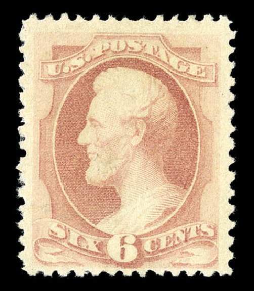 Costs of US Stamps Scott Cat. 195 - 6c 1880 Lincoln Special Printing. Matthew Bennett International, Sep 2012, Sale 345, Lot 229