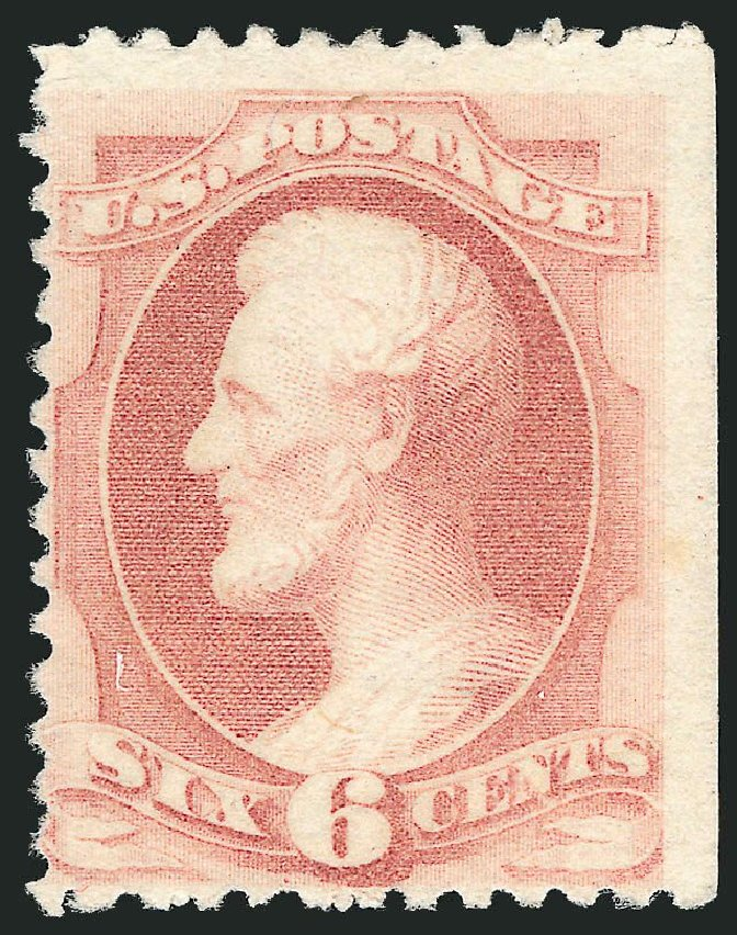 US Stamp Price Scott Catalog #195: 1880 6c Lincoln Special Printing. Robert Siegel Auction Galleries, Nov 2013, Sale 1057, Lot 779