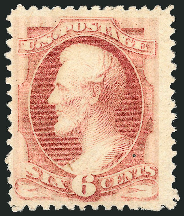 Value of US Stamp Scott #195 - 1880 6c Lincoln Special Printing. Robert Siegel Auction Galleries, Oct 2008, Sale 963, Lot 819