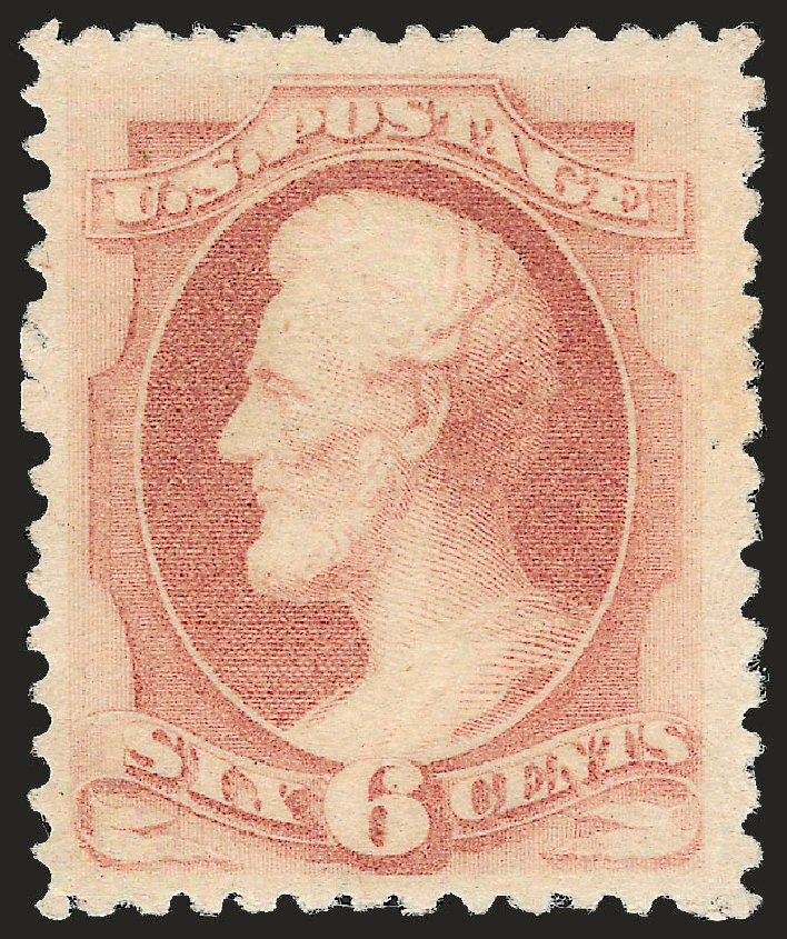 US Stamps Prices Scott Catalogue # 195: 1880 6c Lincoln Special Printing. Robert Siegel Auction Galleries, Apr 2009, Sale 972, Lot 3194