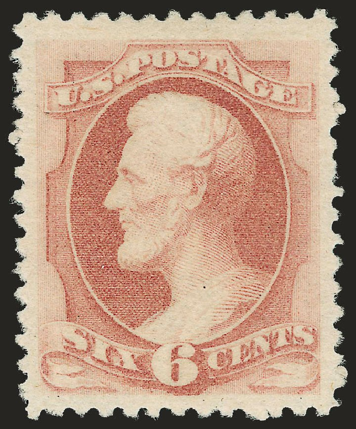 Cost of US Stamp Scott Cat. 195: 1880 6c Lincoln Special Printing. Robert Siegel Auction Galleries, Jun 2009, Sale 973, Lot 142