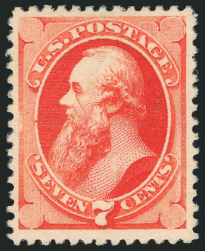 US Stamp Value Scott Cat. #196 - 1880 7c Stanton Special Printing. Robert Siegel Auction Galleries, Apr 2015, Sale 1096, Lot 348