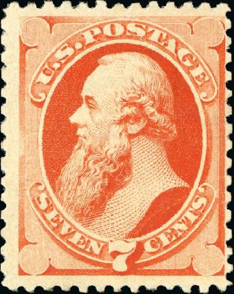 Values of US Stamps Scott Catalog 196: 1880 7c Stanton Special Printing. Spink Shreves Galleries, Jan 2015, Sale 150, Lot 108