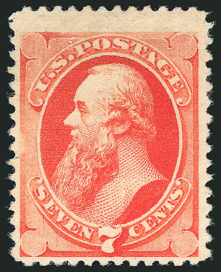 Cost of US Stamps Scott Cat. # 196 - 7c 1880 Stanton Special Printing. Robert Siegel Auction Galleries, Dec 2012, Sale 1036, Lot 129