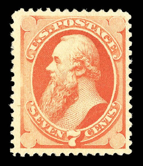 Values of US Stamps Scott Catalog #196 - 1880 7c Stanton Special Printing. Matthew Bennett International, Sep 2012, Sale 345, Lot 230