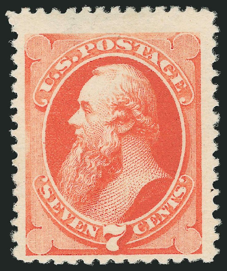 Cost of US Stamps Scott Cat. #196: 1880 7c Stanton Special Printing. Robert Siegel Auction Galleries, Nov 2013, Sale 1057, Lot 780