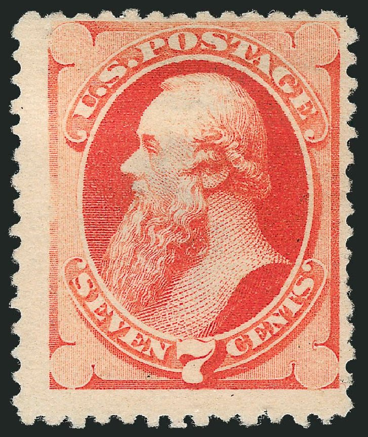 Price of US Stamps Scott Cat. 196 - 1880 7c Stanton Special Printing. Robert Siegel Auction Galleries, Mar 2014, Sale 1067, Lot 1180