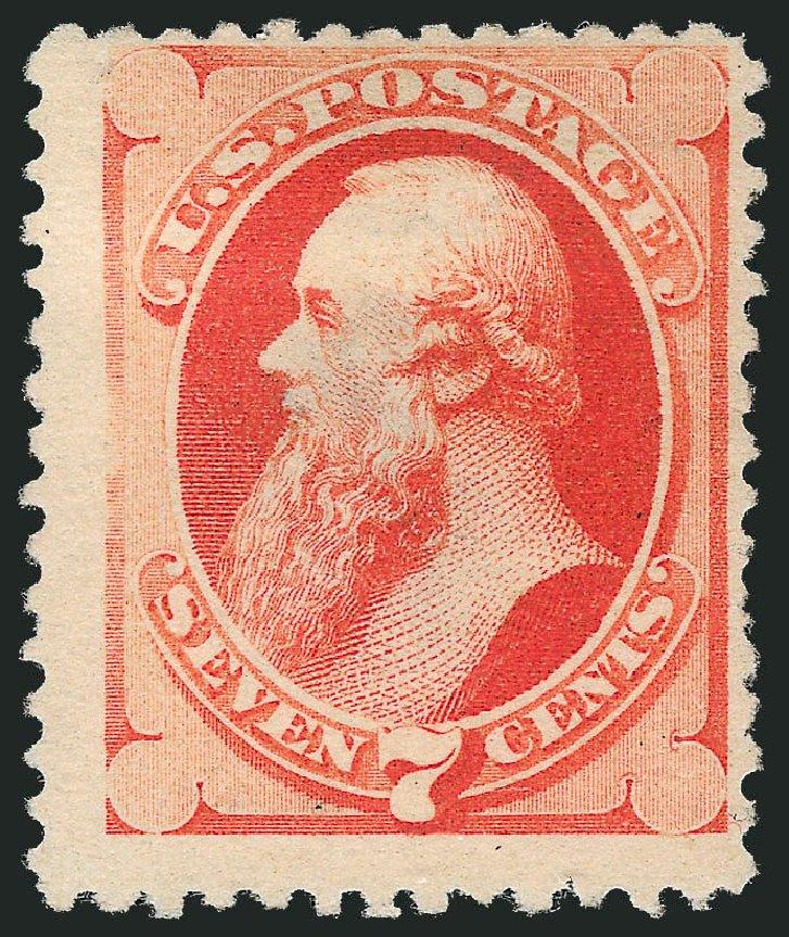 Price of US Stamps Scott Cat. 196 - 1880 7c Stanton Special Printing. Robert Siegel Auction Galleries, Mar 2014, Sale 1067, Lot 1180