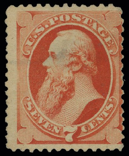 Value of US Stamps Scott Catalogue 196 - 1880 7c Stanton Special Printing. H.R. Harmer, May 2014, Sale 3005, Lot 1141