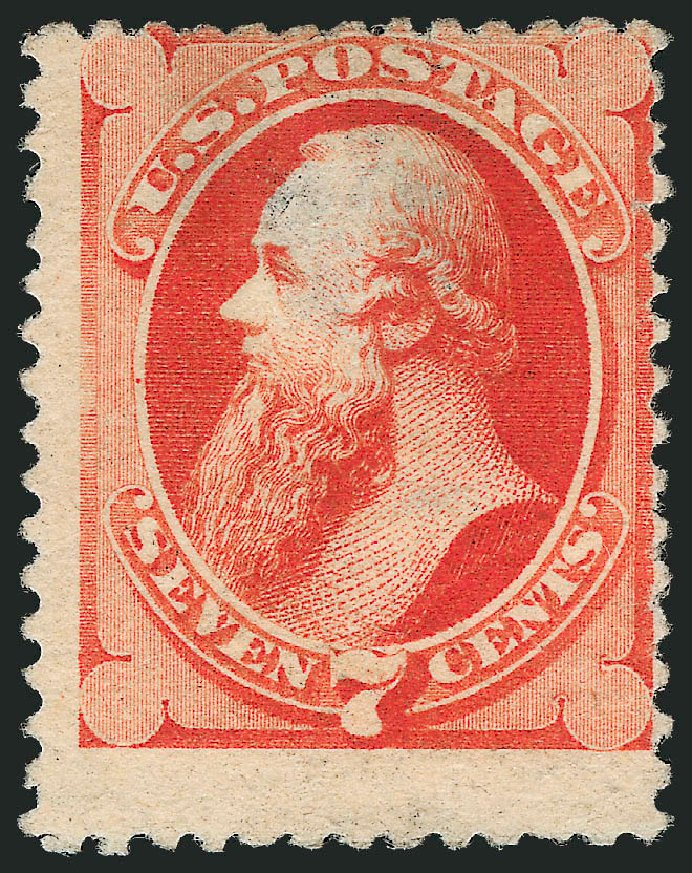 Costs of US Stamps Scott Catalog 196: 7c 1880 Stanton Special Printing. Robert Siegel Auction Galleries, Oct 2010, Sale 997, Lot 5614