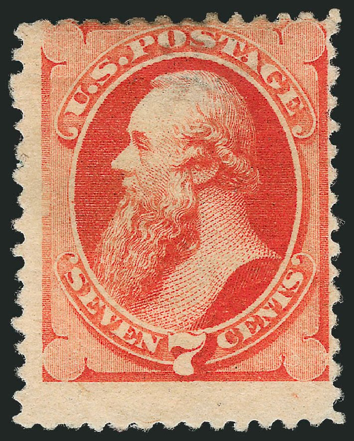 US Stamp Price Scott 196: 1880 7c Stanton Special Printing. Robert Siegel Auction Galleries, Dec 2012, Sale 1037, Lot 1755
