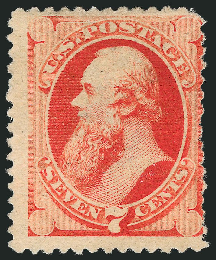 US Stamps Values Scott Catalog 196: 7c 1880 Stanton Special Printing. Robert Siegel Auction Galleries, Oct 2010, Sale 997, Lot 5615