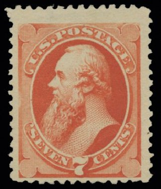 Cost of US Stamp Scott Catalog #196 - 1880 7c Stanton Special Printing. H.R. Harmer, May 2014, Sale 3005, Lot 1142