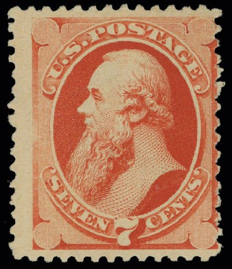 Costs of US Stamps Scott Catalogue # 196 - 7c 1880 Stanton Special Printing. H.R. Harmer, May 2014, Sale 3005, Lot 1143
