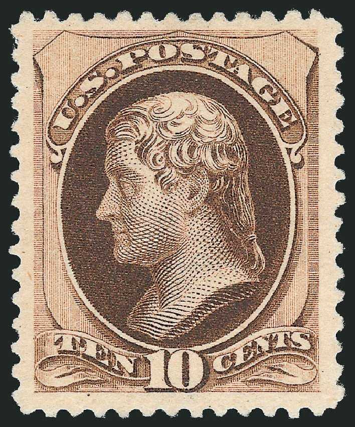 US Stamp Prices Scott Catalogue #197 - 1880 10c Jefferson Special Printing. Robert Siegel Auction Galleries, Jun 2011, Sale 1010, Lot 71
