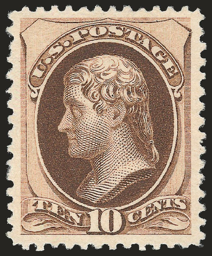 Values of US Stamp Scott # 197: 1880 10c Jefferson Special Printing. Robert Siegel Auction Galleries, Apr 2009, Sale 972, Lot 3196