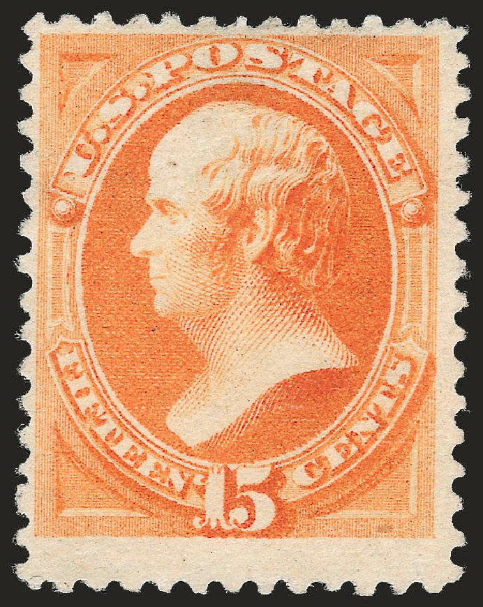 US Stamps Value Scott #199 - 1880 15c Webster Special Printing. Robert Siegel Auction Galleries, Apr 2009, Sale 972, Lot 3198