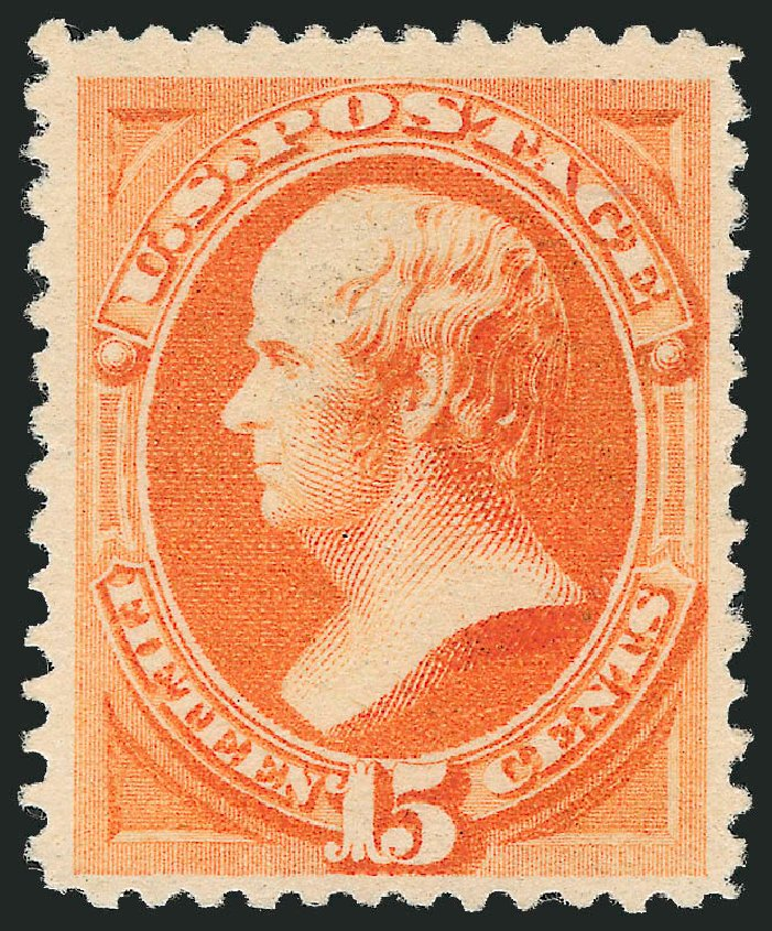 Prices of US Stamp Scott Cat. #199: 1880 15c Webster Special Printing. Robert Siegel Auction Galleries, Apr 2015, Sale 1096, Lot 351