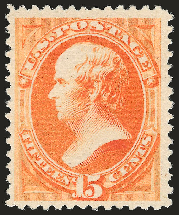 Costs of US Stamps Scott Catalogue #199 - 1880 15c Webster Special Printing. Robert Siegel Auction Galleries, Jun 2009, Sale 973, Lot 145