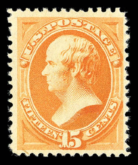 US Stamps Value Scott Cat. # 199: 15c 1880 Webster Special Printing. Matthew Bennett International, Sep 2012, Sale 345, Lot 233