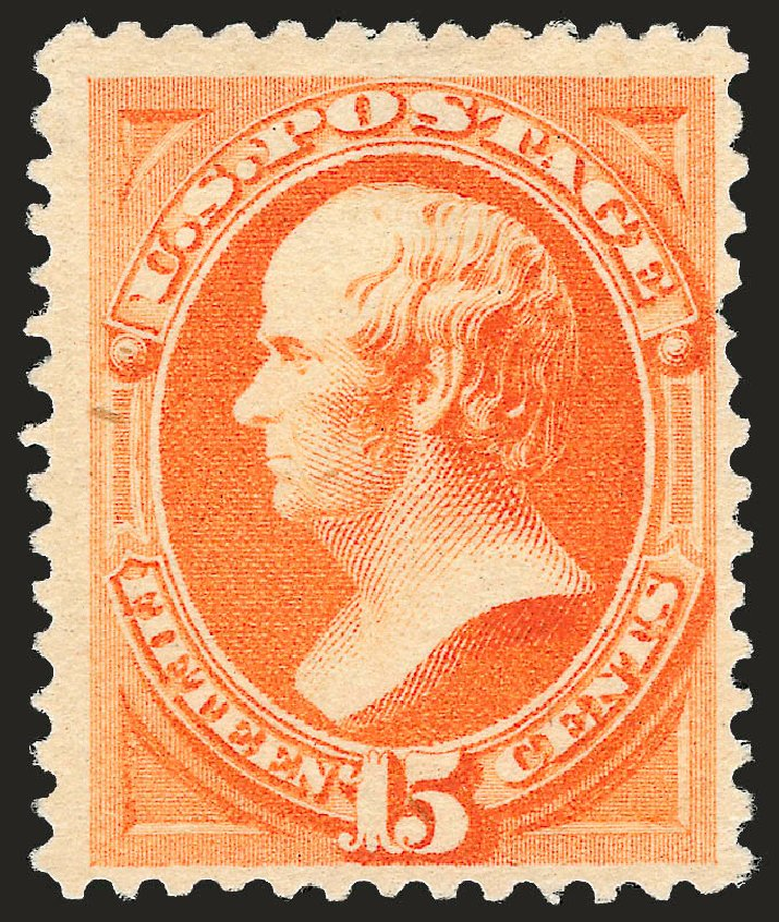 Values of US Stamps Scott Catalogue #199: 15c 1880 Webster Special Printing. Robert Siegel Auction Galleries, Oct 2008, Sale 963, Lot 823