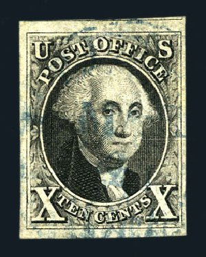 US Stamp Price Scott 2: 1847 10c Franklin. Harmer-Schau Auction Galleries, Aug 2015, Sale 106, Lot 1247