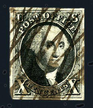 Values of US Stamps Scott Cat. 2: 10c 1847 Franklin. Harmer-Schau Auction Galleries, Aug 2015, Sale 106, Lot 1248