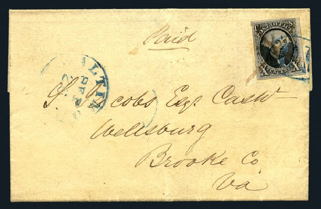 Value of US Stamp Scott Catalog #2: 1847 10c Franklin. Harmer-Schau Auction Galleries, Aug 2015, Sale 106, Lot 1249