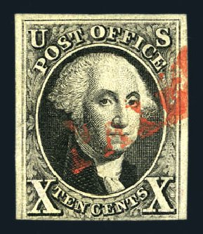 US Stamps Prices Scott Catalog 2 - 1847 10c Franklin. Harmer-Schau Auction Galleries, Aug 2015, Sale 106, Lot 1243