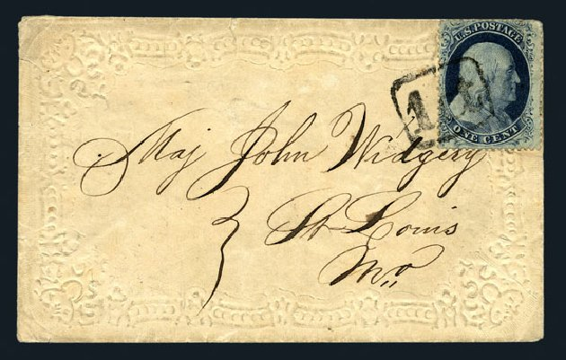 US Stamp Price Scott Catalog #20: 1c 1857 Franklin. Harmer-Schau Auction Galleries, Aug 2015, Sale 106, Lot 1325