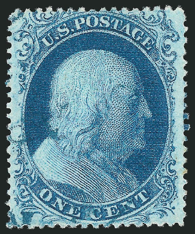 Values of US Stamp Scott Cat. 20 - 1857 1c Franklin. Robert Siegel Auction Galleries, Apr 2015, Sale 1096, Lot 45