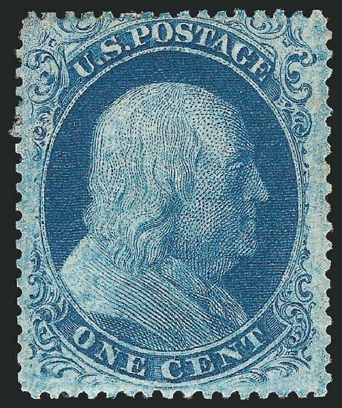Costs of US Stamps Scott Cat. 20 - 1857 1c Franklin. Robert Siegel Auction Galleries, Apr 2015, Sale 1096, Lot 43