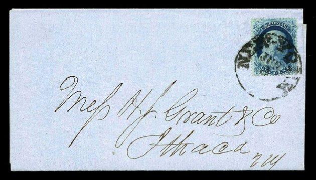 US Stamps Values Scott 20 - 1857 1c Franklin. Harmer-Schau Auction Galleries, Aug 2015, Sale 106, Lot 1326