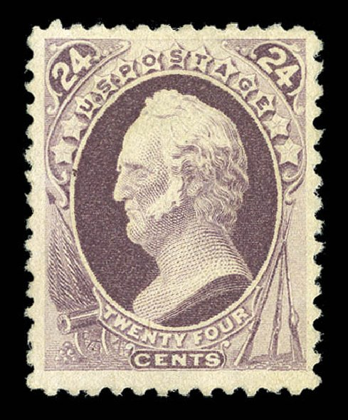 US Stamp Value Scott Cat. #200 - 1880 24c Winfield Scott Special Printing. Matthew Bennett International, Sep 2012, Sale 345, Lot 234