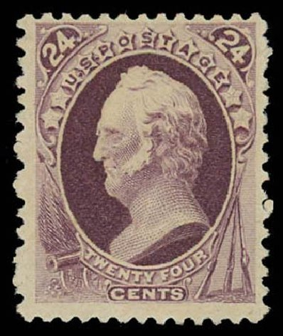 Values of US Stamps Scott Catalogue # 200 - 24c 1880 Winfield Scott Special Printing. Daniel Kelleher Auctions, Oct 2011, Sale 626, Lot 184