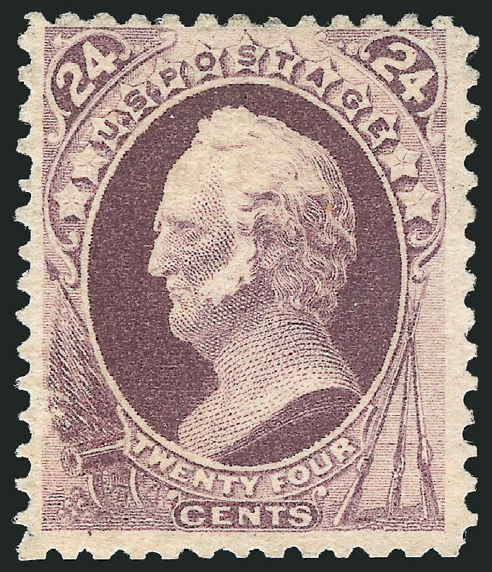 Value of US Stamps Scott #200: 24c 1880 Winfield Scott Special Printing. Robert Siegel Auction Galleries, Jun 2015, Sale 1100, Lot 42
