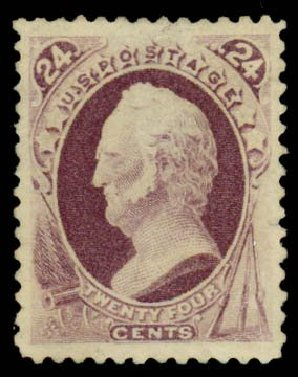 US Stamp Values Scott Catalogue #200: 24c 1880 Winfield Scott Special Printing. Daniel Kelleher Auctions, Sep 2013, Sale 639, Lot 406