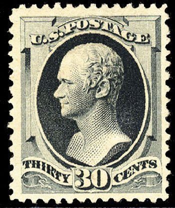Price of US Stamps Scott Catalog # 201 - 1880 30c Hamilton Special Printing. Cherrystone Auctions, Mar 2009, Sale 200903, Lot 147