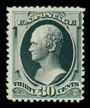 US Stamps Values Scott # 201 - 1880 30c Hamilton Special Printing. Matthew Bennett International, Dec 2007, Sale 325, Lot 1668